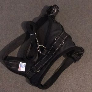 Dog harness and leash size medium new never used